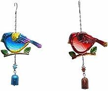 #N/A 2 scacciapensieri creativi a forma di uccelli