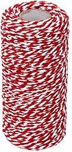 N / A - Corda natalizia in cotone, 100 m, colore