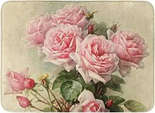 N\A Tappetino da Bagno Vintage Shabby Chic Rosa
