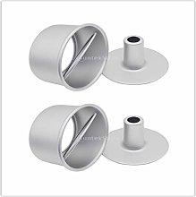 N\C 2 Set 2 Teglia rotonda in alluminio da 8
