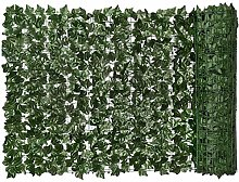 N\C - Siepe artificiale con foglie verdi, finta