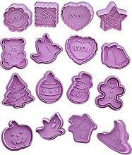 Naisde - Stampo per biscotti di Natale, in
