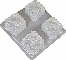 NAIXUE 4 cavità stampo in plastica per torta di