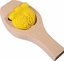 NAIXUE Stampo per torta in legno con luna 3D per