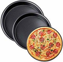 NALCY 3 Pz Set Teglia per Pizza Tonda Rivestimento