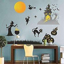 Nanxing - Adesivi da parete per Halloween fai da