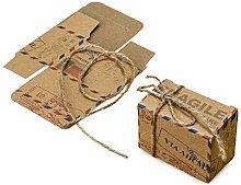 nastri e bomboniere 25 Scatole portaconfetti Pacco