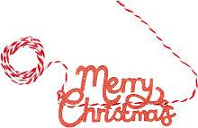 Nastro natalizio parole rosso e bianco