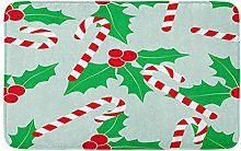 Natale con agrifoglio e caramelle canna di