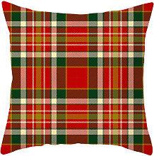 Natale di stile federa plaid rosso Cuscino