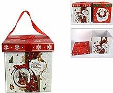 Natale Scatola Natalizia Pacco Regalo 30x30 cm Box