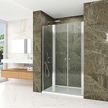 Natural box doccia nicchia cm 100 doppia porta