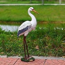 NBXLHAO Egret Bird Sculpture Decoration,