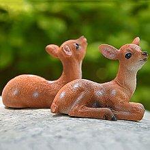 NBXLHAO Mini Deer Scultura, Resina Artigianato