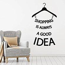 Negozio Quote Adesivo Shopping Idea Appendiabiti