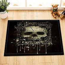 Nero sfondo cranio Indoor antiscivolo tappetino