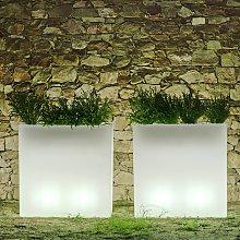 Newgarden Junco vaso LED angolare solar+accu
