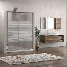 Nicchia doccia 130cm cristallo serigrafato altezza