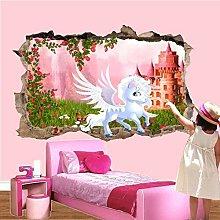 Nicoole Adesivo murale 3D Adesivo murale castello