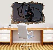 Nicoole Adesivo murale 3D ragno di ferro Adesivo