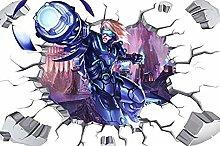 Nicoole Adesivo murale Adesivo murale rotto mobile