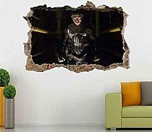Nicoole Adesivo murale Punisher Adesivo murale 3D