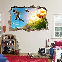 Nicoole Adesivo murale Videogioco Missile 3D Hole