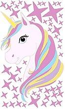 NIDONE Wall Sticker Unicorn Creativo Arcobaleno