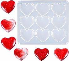 Nifocc, stampo in silicone a forma di cuore, in