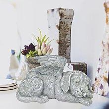 Nileco Angel Cani Gatto Statue da Giardino,Dormire