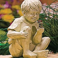 Nileco Solare Barattolo di Lucciola Bambini Statua