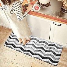 NINEHASA Tappeto da Cucina,Chevron Wood Texture
