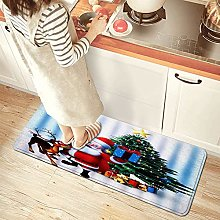 NINEHASA Tappeto da Cucina,Christmas Santa Claus