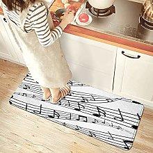 NINEHASA - Tappeto da cucina, design musicale su