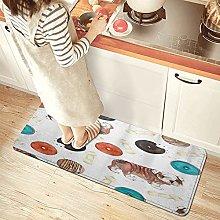 NINEHASA Tappeto da Cucina,Modello di ciambelle di