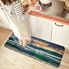 NINEHASA Tappeto da Cucina,Ocean Surf Waves