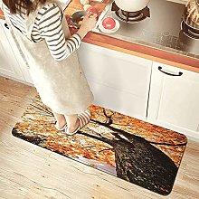 NINEHASA Tappeto da Cucina,Stampa su legno di