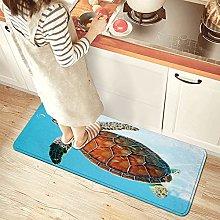 NINEHASA Tappeto da Cucina,Tartaruga di mare