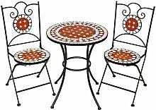 No_brand - set di tavolo e sedie con mosaico, 2