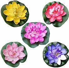 Nolitoy, 5 pezzi di schiuma artificiale di loto