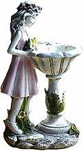 Non-brand Fairy Girl Giardino Statua, Luci Solari