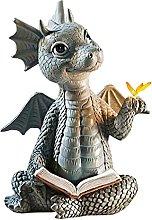 non_brand Statua del Drago, Dinosauro, Giardino,