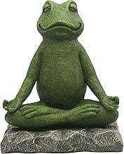 non_brand Yoga Frog Statue Meditazione Scultura