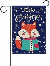 Not Applicable Bandiera del Giardino di Natale Fox