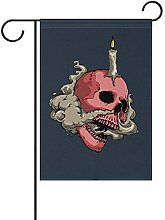 Not Applicable Smokey Skull with Candle Welcome
