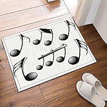 Note musicali decorative Tappetino da bagno