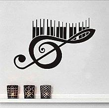 Note musicali per pianoforte Adesivo in vinile