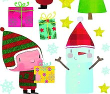 Nouvelles Images Adesivi di Natale Design Pupazzo
