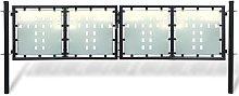 Nova - Cancello per recinzione doppio per esterni