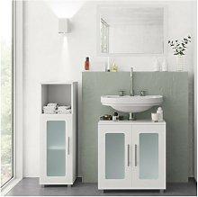 Nova - Set mobili bagno sotto lavabo + specchio +